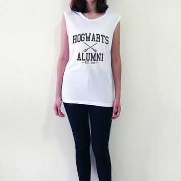 Hogwarts Alumni Shirt Tank Top Sleeveless Tops Women Muscle Tee Shirt Tshirt Size S M L