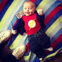 18 MONTH Justice League FLASH Superhero Baby Onesuit