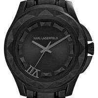 KARL LAGERFELD '7' Faceted Bezel Bracelet Watch, 44mm (Nordstrom Online Exclusive)