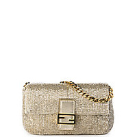 Fendi - Embroidered Beaded Micro Baguette - Saks Fifth Avenue Mobile