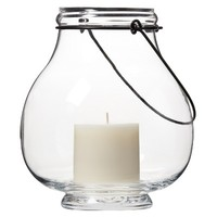 Smith & Hawken® Glass Candle Holder with Wire handle