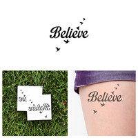 Fly Birds - Temporary Tattoo (Set of 2)