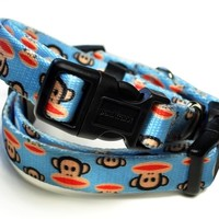 Paul Frank Signature Julius Lt. Blue Dog Collar