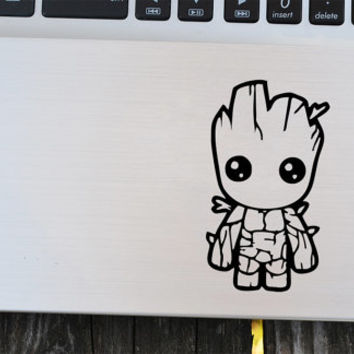 Baby Groot Vinyl Decal, Guardians of the Galaxy, laptop decal, vinyl decals, macbook decal, wall sticker, car decal
