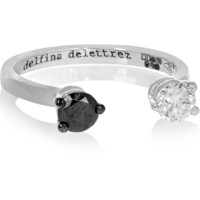 Delfina Delettrez - 18-karat white gold diamond phalanx ring