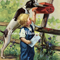 "Dog Print - Print for Mailman  - Restored 1940s Dog Art Print -  ""Helpful Pal"" - Mail Time - Dog Helps ""His"" Little Boy - 1940s"
