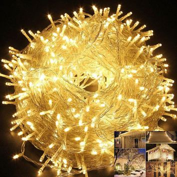 LED light string 10m 20m 30m 50m 100m waterproof outdoor 220V / 110V for Christmas party wedding festival outdoor decoration