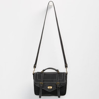 Top Handle Turn Lock Crossbody Bag Black One Size For Women 25243510001