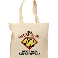 Musician - Superpower Grocery Tote Bag