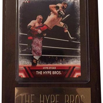 """The Hype Bros 4"""" x 6"""" WWE Wrestling Plaque"""
