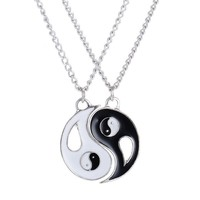 Yin and Yang best friends or couples necklace