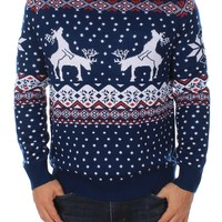 Blue Humping Reindeer Sweater | Tipsy Elves