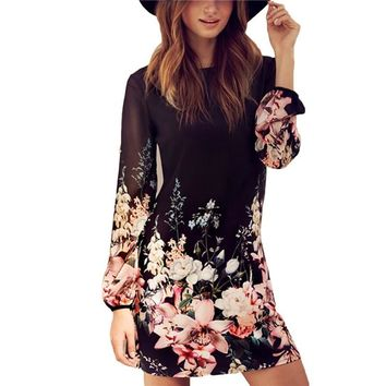 2017 Casual Femininos Crochet Floral Lace Embroidery Dresses Sheer Boho Dresses Commemorative Bell Sleeve Dress