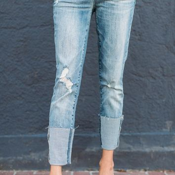 Cuffed Up Distressed Denim – Ily Couture