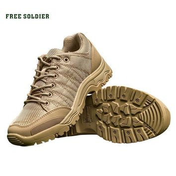 FREE SOLDIER Outdoor Sports Tactical Hiking Boots Climbing Shoes Men Breathable Lightw