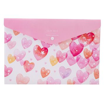 Deli Book Paper A4 File Folder Bag Colorful Document bag Office School File pocket Durable Waterproof expanding file