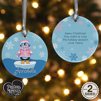 Precious Moments® Penguin Personalized Christmas Ornament