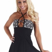 Sex Symbol Flair Tube Dress w/ Rhinestone Trim 3-179 [Select Size/Color]