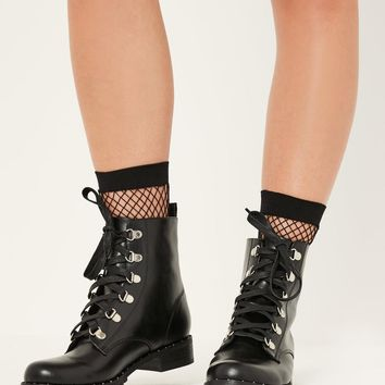 Missguided - Black Lace Up Studded Sole Boots