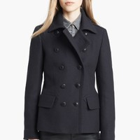 Burberry Brit Double Breasted Peacoat   Nordstrom