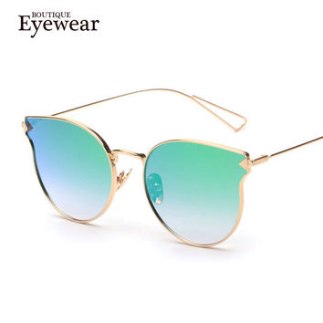 BOUTIQUE New Women Alloy Arrows Cat Eye Sunglasses Men metal Nose Glasses High Quality Fashion