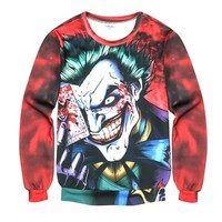 2017 Newest  the Joker 3d print funny comics character joker with poker Men/Women's 3d Hoodies Tie-dye Harajuku Sweatshirts