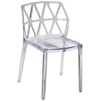 Zig Zag Dining Chair, Clear Polycarbonate