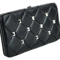 Pyramid Stud 50's Style Pinup Clutch Wallet