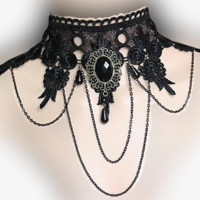 Boho Gypsy Goth Necklace