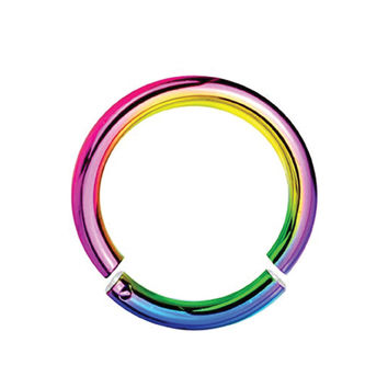 BodyJ4You® 14G Rainbow Anodized Segment Ring