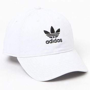 DCCKYB5 adidas Washed White Strapback Dad Hat