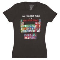 My Little Pony Periodic Table of MLP Licensed Women's Junior T-Shirt - Gray