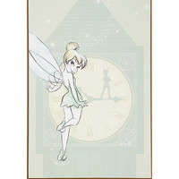 Disney Peter Pan Tinker Bell Clock Tower Wood Wall Art