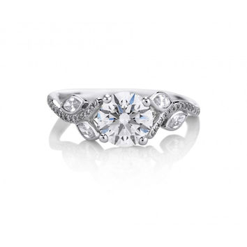 A Perfect Antique 2.3CT Round Cut Russian Lab Diamond Engagement Ring
