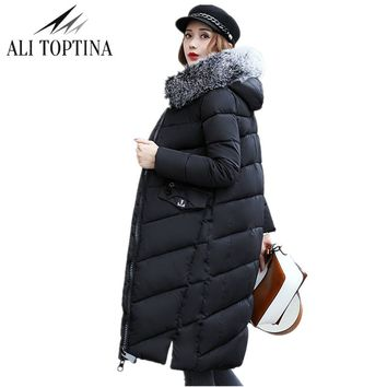 ALI TOPTINA New Parkas Winter Woman 2017 Down  Cotton-padded  Thickening Heavy Outwear  Loose Coat Female Snow Wear MF003