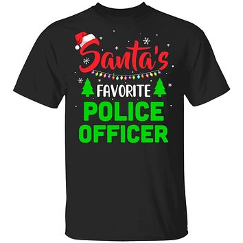 Santa's Favorite Police Officer Funny Christmas Xmas Gifts