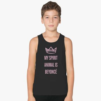 My Spirit Animal Is Beyonce Kids Tank Top