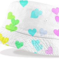 Drifting Hearts Bucket Hat created by Christy Leigh | Print All Over Me