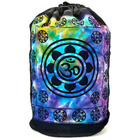 LOTUS Flower OM Aum Symbol Yoga Chakra INDIA Tie Dye BACKPACK Hippie Book BAG