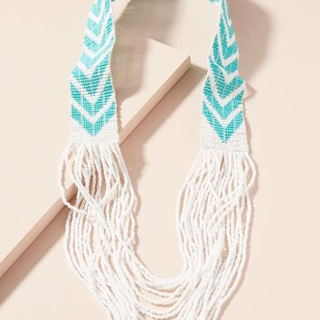 Beaded Chevron Necklace