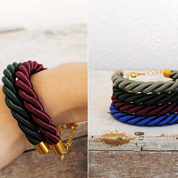 Sailor's Rope Nautical Braided Bracelet with Gold by indietribes