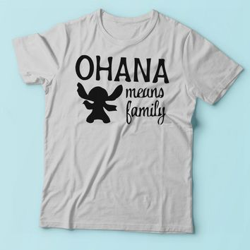 Ohana Means Family Lilo And Stitch Funny Emoji Men'S T Shirt