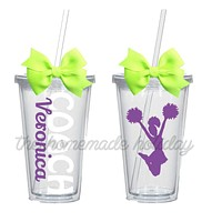 Cheerleading Coach tumblers