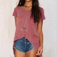 Nasty Gal Back in the Game Slit Tee