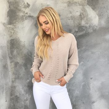 Cuddle Weather Knit Sweater In Oatmeal
