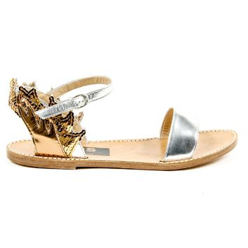 Golden Goose Womens Ankle Strap Flat Sandal G24D297 A1