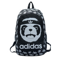 """Adidas"" Cute Pattern Canvas Backpack School Bag Rucksack Outdoor Travel Bag"