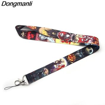 L2178 Dongmanli The Nightmare Before Christmas necklace lanyards id badge holder ID Card Pass Gym Mobile Phone USB Badge Holder