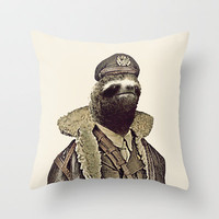 LIKE A SLOTH. Throw Pillow by John Medbury (LAZY J Studios)