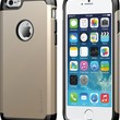 iPhone 6 Case, LUVVITT® ULTRA ARMOR iPhone 6 Case / Best iPhone 6 Case for 4.7 inch Screen Air   Double Layer Shock Absorbing Gold iPhone 6 Case Cover (Does NOT fit iPhone 5 5S 5C 4 4s or iPhone 6 Plus 5.5 inch screen) - Black / Metallic Champagne Gold